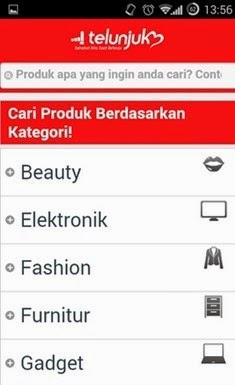 Telunjuk.com - Aplikasi android untuk shopping
