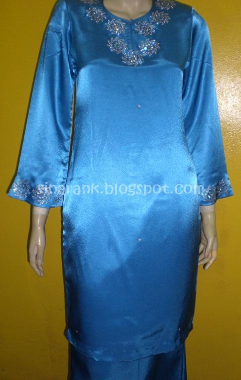 sinaran kamunting 70 baju raya kurung moden satin