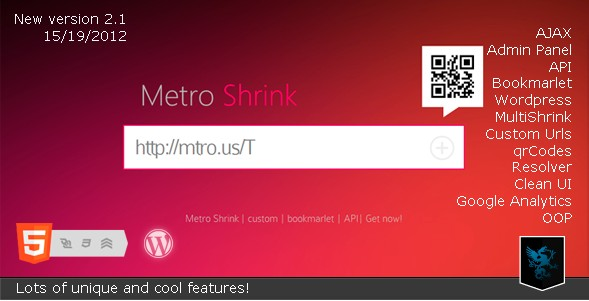 CodeCanyon - Metro Shrink - Url Shortener service