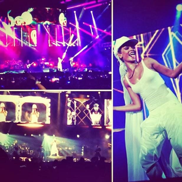 At Rihanna's Concert – Abu Dhabi