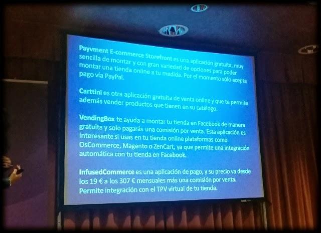 Aplicaciones de ecommerce Facebook - Meetingpoint Ono