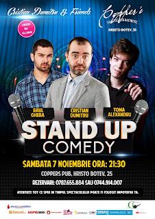Stand-Up Comedy Sambata 7 Noimebrie Bucuresti