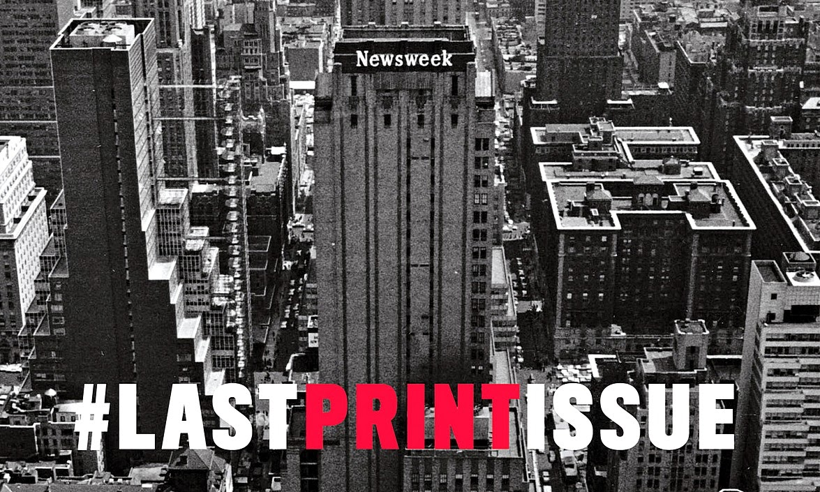 Couverture de Newsweek #lastprintissue