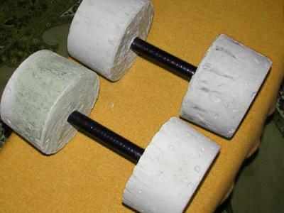 Как сделать гантель из цемента