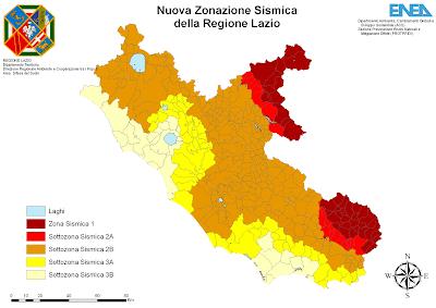 Cartina Politica del Lazio