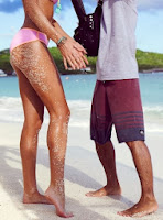 English: Candice Swanepoel Pink Bikini The Bahamas