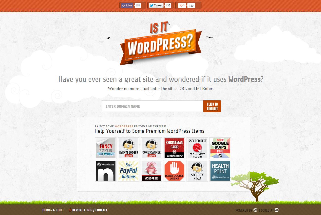 check website is wordpress or not
