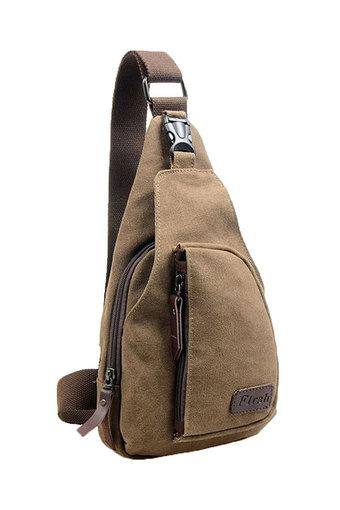 Product details of Moonar Men's Military Shoulder Bag Coffee   Moonar กระเป๋าสะพายไหล่ สำหรับผู้ชาย