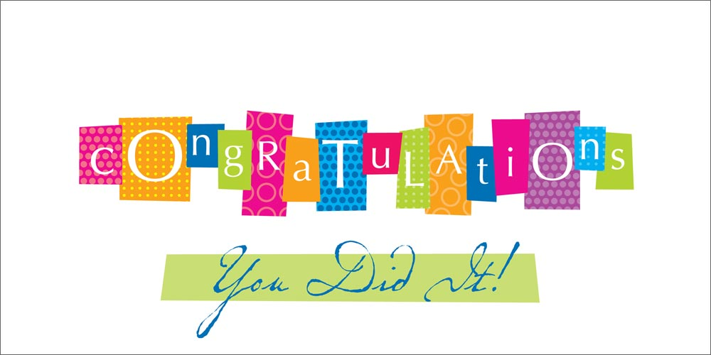 Word 2013 Congratulations Card