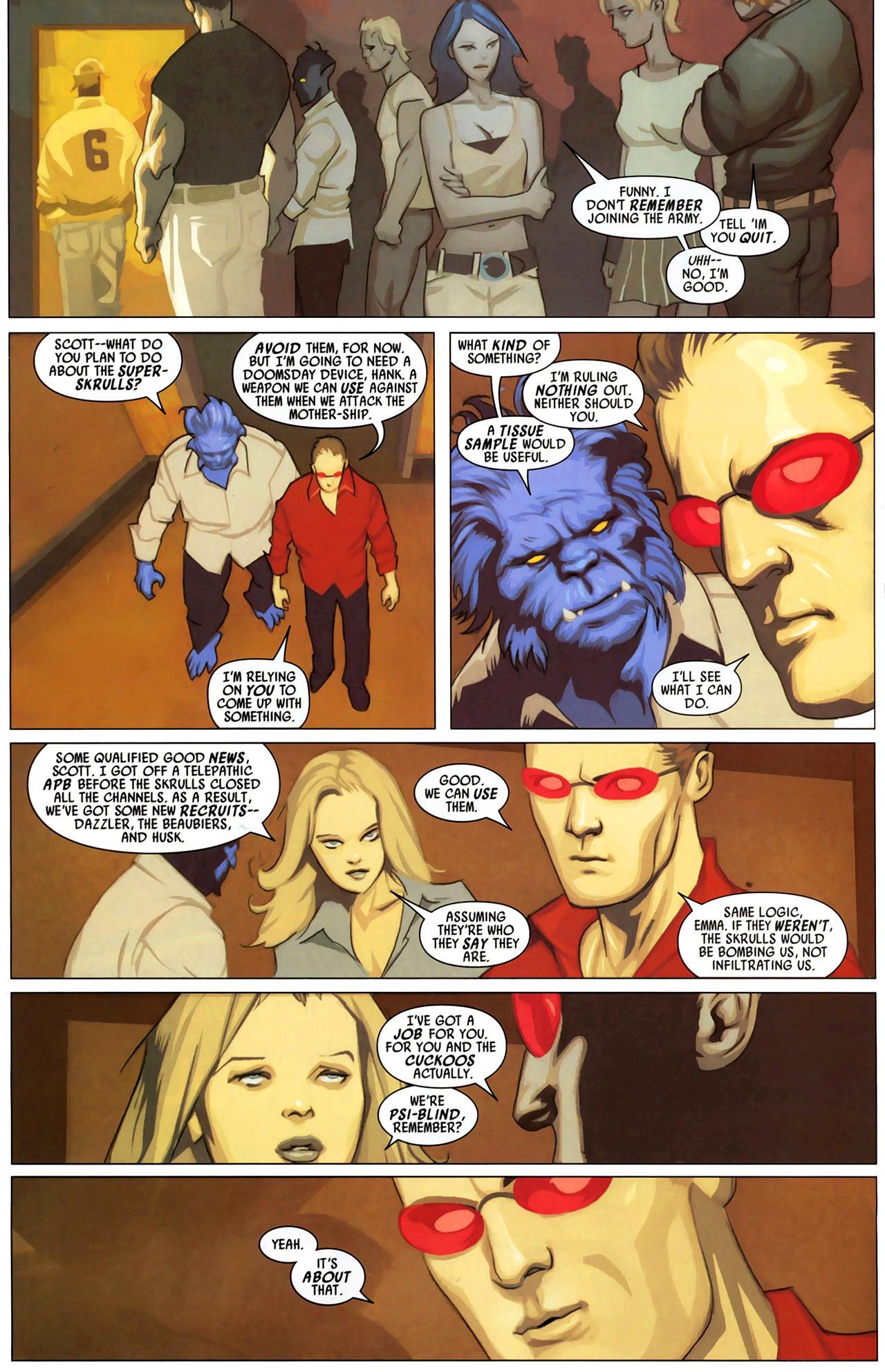 Read online Secret Invasion: X-Men comic -  Issue #2 - 9