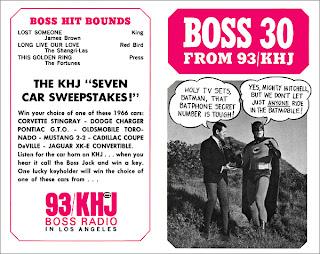 KHJ Boss 30 No. 29 - Johnny Mitchell with Batman