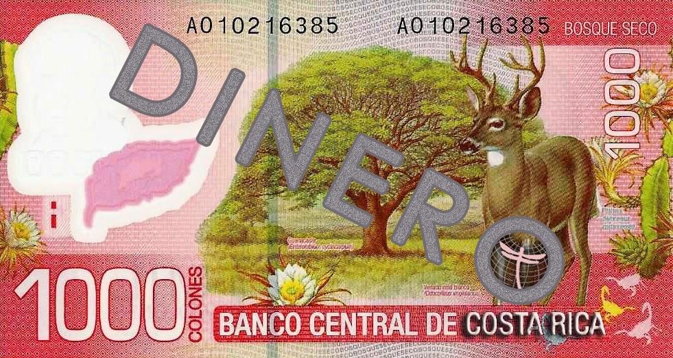 Presupuestos de dinero diario, cambios y uso de dinero en Costa Rica