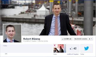 Screenshot Facebook-Fanseite Robert Bläsing (FDP)