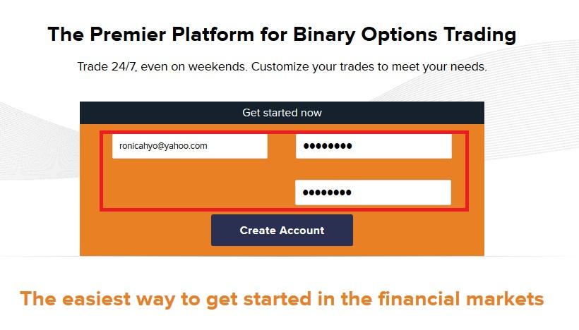 Cara daftar di binary option