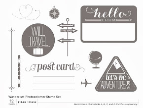 Photopolymer stamp set - Wanderlust