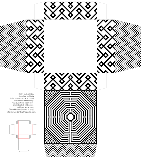 Amiens Cathedral inspired printable box with the floor labyrinth