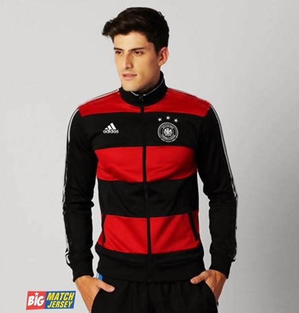 Jaket GO Tracktop Jerman Away WC 2014 Aidas Red Black