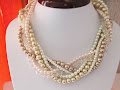 Multi Strand, Layered Wedding Necklace
