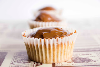 Cupcakes de calabacín y dulce de leche