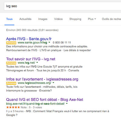 IVG SEA adwords ou rich snippet vote