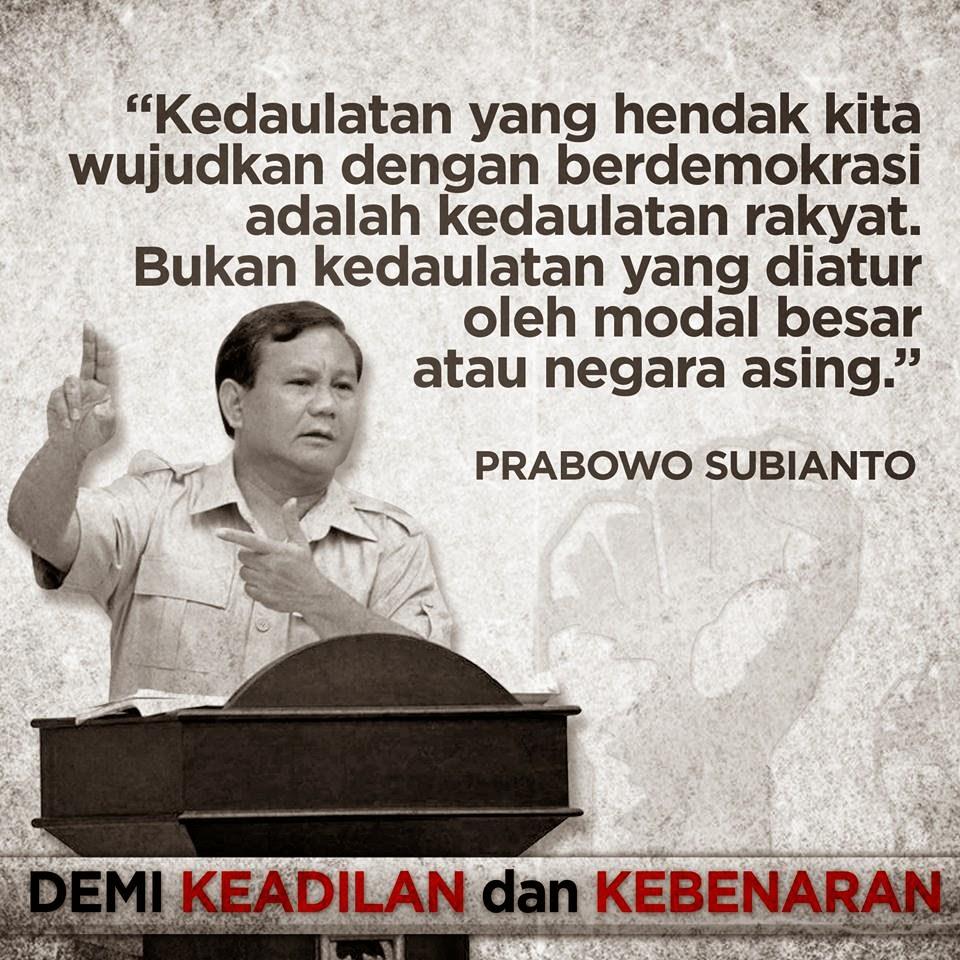 Inilah Kutipan Pidato Prabowo Subianto di MK