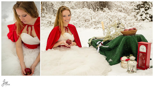Snowy Outdoor Bridal Session Lynchburg