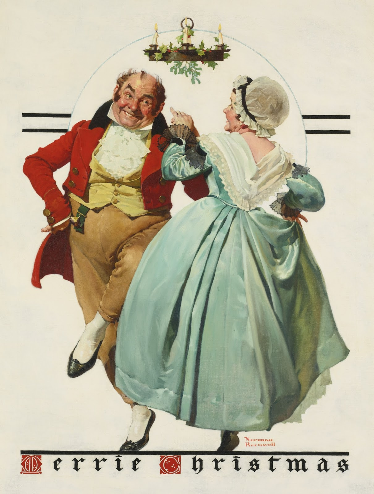 Truth in the Bright Light of Day: Norman Rockwell ~ Merrie Christmas ...