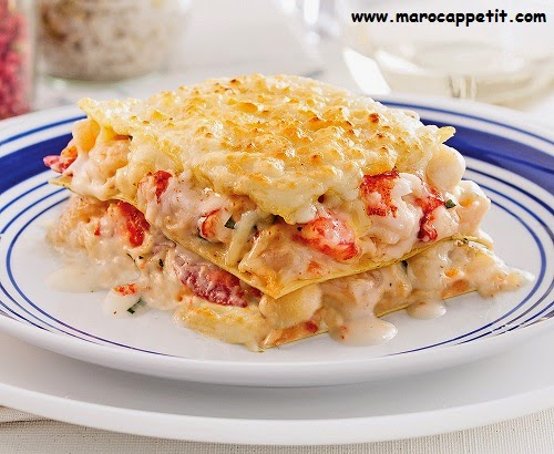 Lasagne aux fruits de mer | Lasagna with seafood