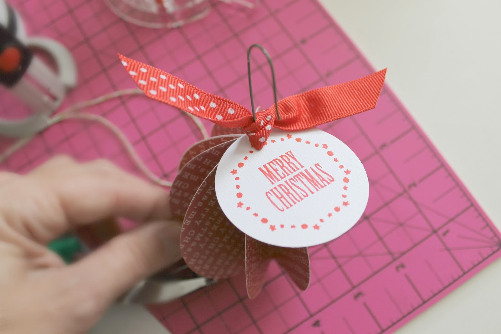 Easy Paper Ornament - Ginger Snap Crafts - Lines Across