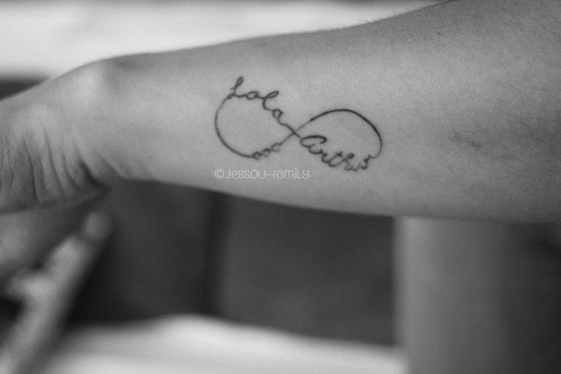 Histoire de tatouage - Tatouage signe infini avec prenom ...