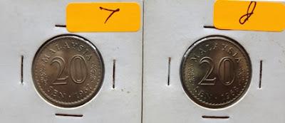 Malaysia 20 Cents 1968