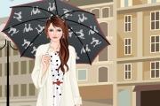 Yağmurda Şemsiyeli Güzel Oyunu