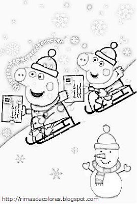 Peppa pig christmas colouring sheets colorings net