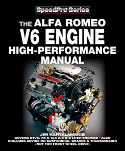 veloce publishing automotive stuff at last the alfa romeo v the alfa romeo v6 engine high performance manual speedpro by jim kartalamakis alfa romeo v6 engines and cars have been around for a good 25 years now