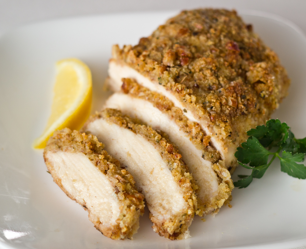 Crown Recipes: Honey Mustard Crusted Chicken Breast with Pecans