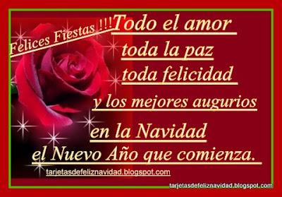 Postales de Navidad con frases navideñas yobsequio de  rosas rojas-1jpg