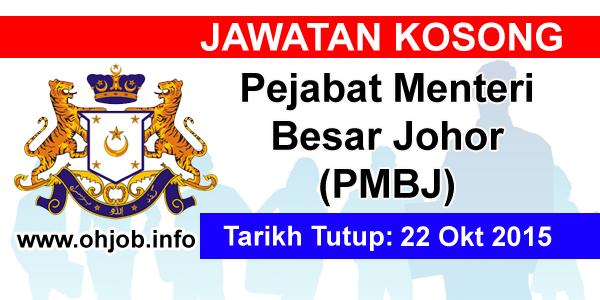Jawatan Kerja Kosong Pejabat Menteri Besar Johor logo www.ohjob.info oktober 2015