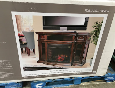 Ember Hearth Electric Media Fireplace: entertainment console and heater all in one