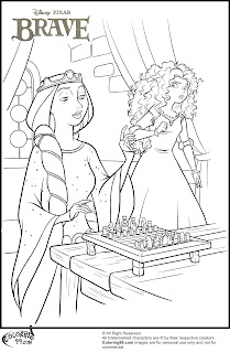 princess merida and queen elinor coloring pages