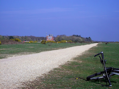 An image of the perimeter track around Greenham Common