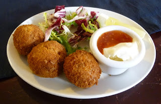 The gluten free Crab Cakes served at The Galley were delicious