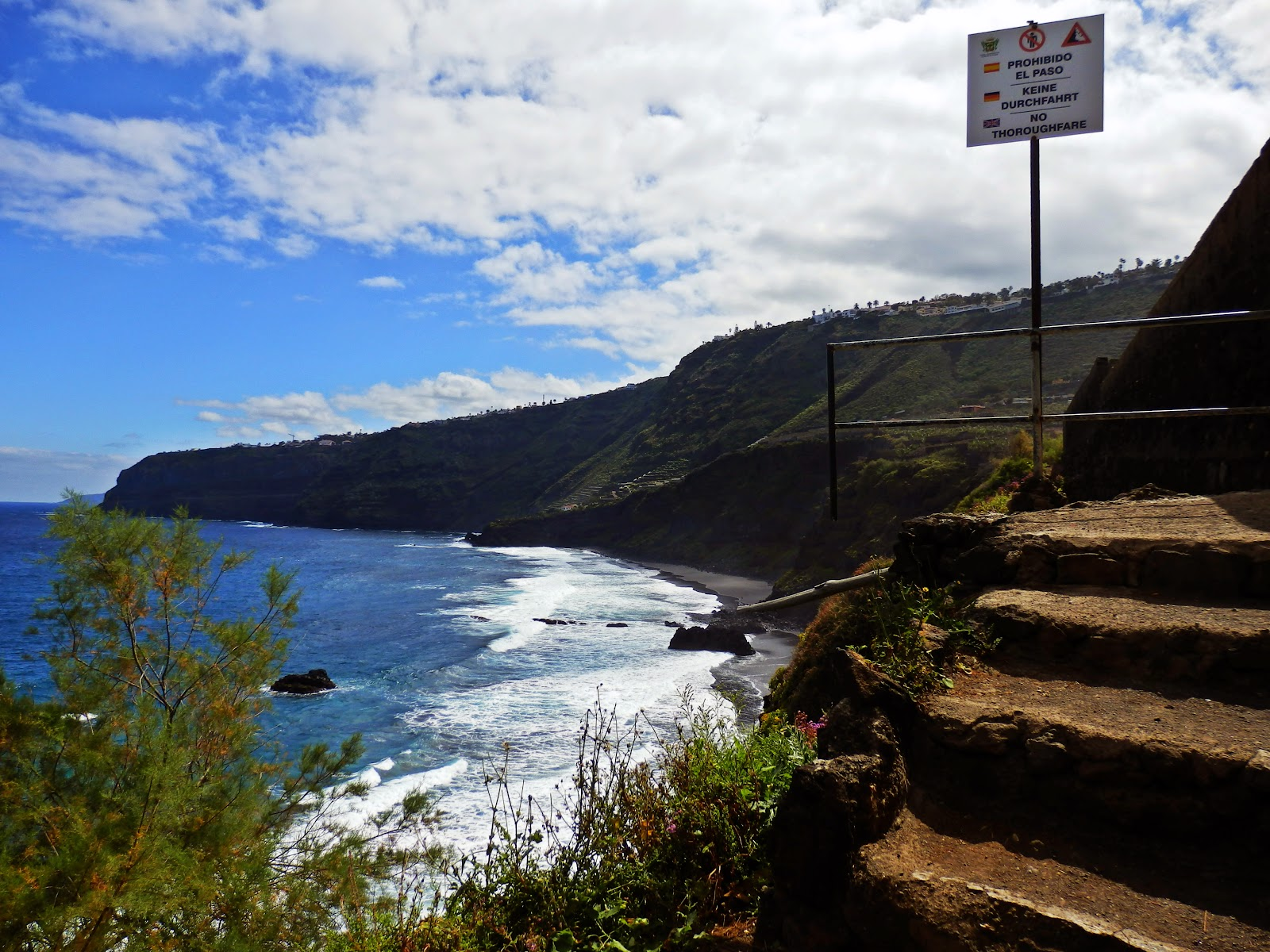 Footpath sign Canary Islands