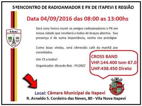 5º ENCONTRO DE RADIOAMADORES E PX DE ITAPEVI E REGIÃO