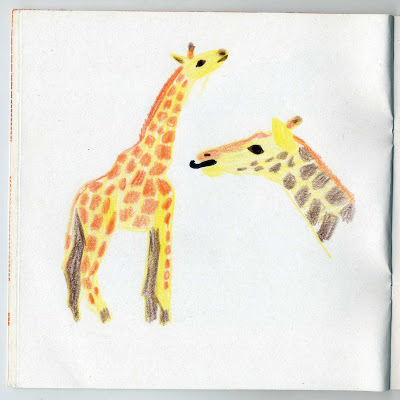 illustration animaux girafe
