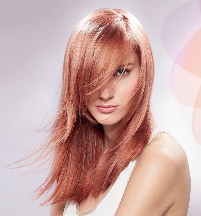 Brown hair with pink dip dye