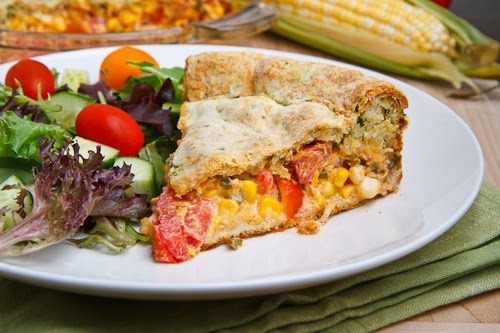 Corn and Tomato Pie on Closet Cooking