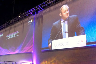 Ed Davey at Gastech