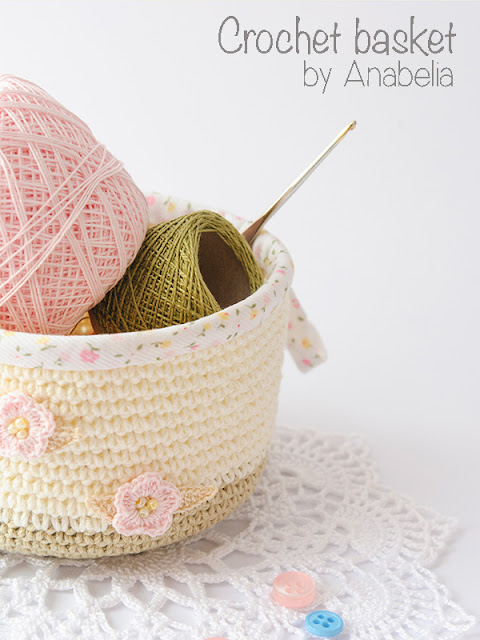 Crochet basket by Anabelia