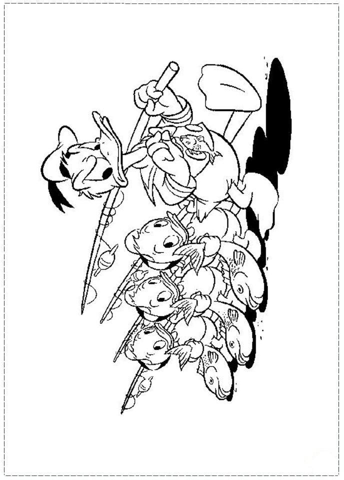 Desenhos Para Colorir pato donald e seus sobrinhos