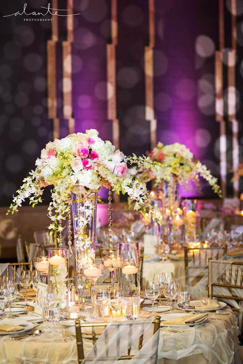 Four Seasons Hotel Seattle wedding, luxury wedding reception, Flora Nova Design Seattle, wedding flowers
